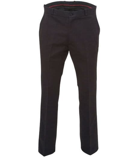 Relco Mens Stay Press Black Trousers Sta Prest Retro Mod Skin Skinhead Ska VTG
